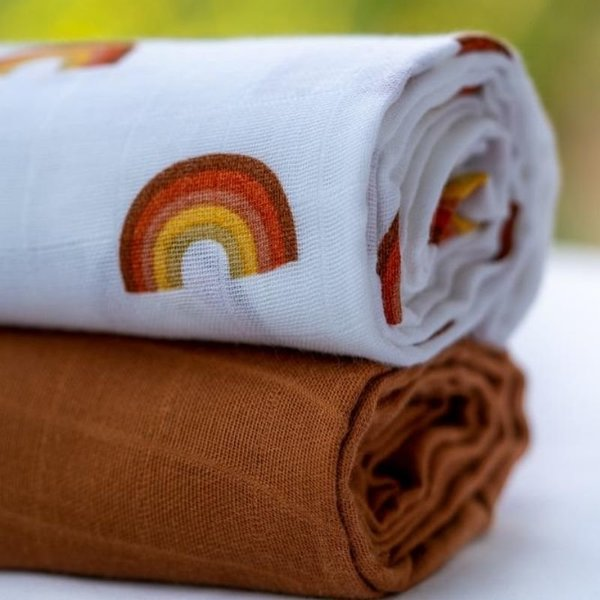 View larger image of Organic Muslin Cotton Swaddle - 2 Pack
