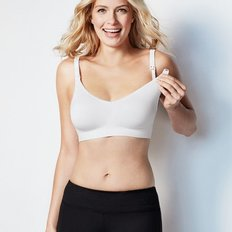 Body Silk Seamless Nursing Bra - White