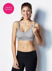Yoga Nursing Bra - Dove Heather