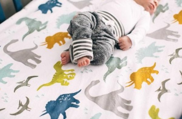 View larger image of Brushed Crib Sheet - Dino