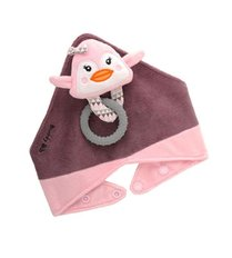 The Buddy Bib - Pink Penguin