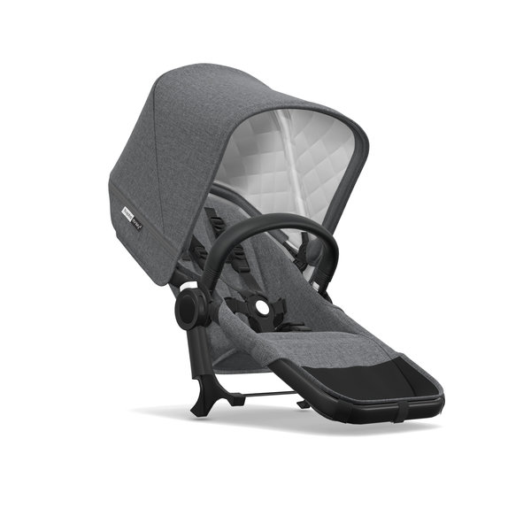 View larger image of Bugaboo Donkey2 Classic Duo Extension Set - Black/Grey