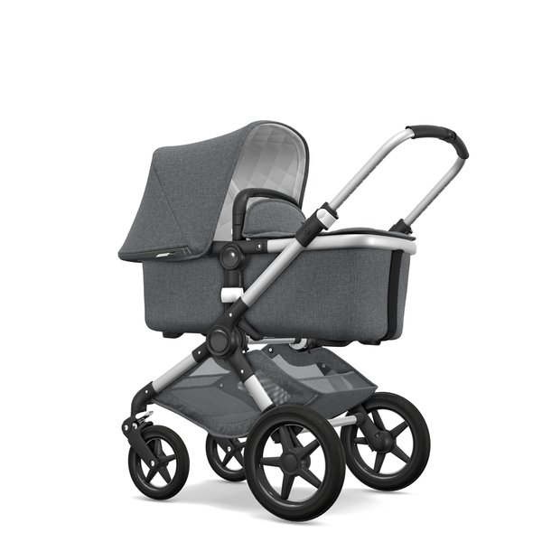 View larger image of Bugaboo Fox Classic Complete Stroller - Aluminum/Grey
