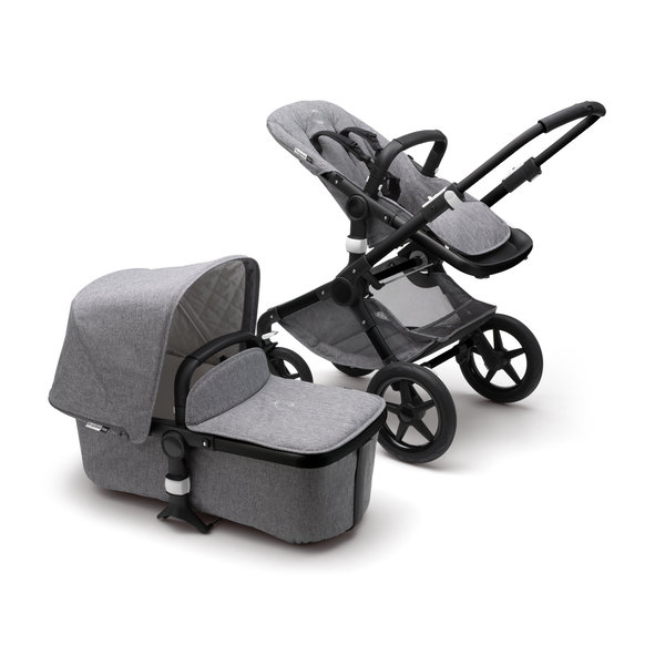 View larger image of Bugaboo Fox Classic Complete Stroller - Black/Grey