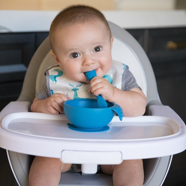 View larger image of Silicone First Feeding Set - Blue