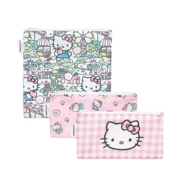 View larger image of Reusable Snack Bag 3-Pack: Hello Kitty