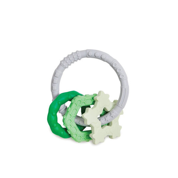 View larger image of Silicone Teething Ring & Charm Set