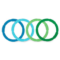 Silicone Teething Rings - 4 pack