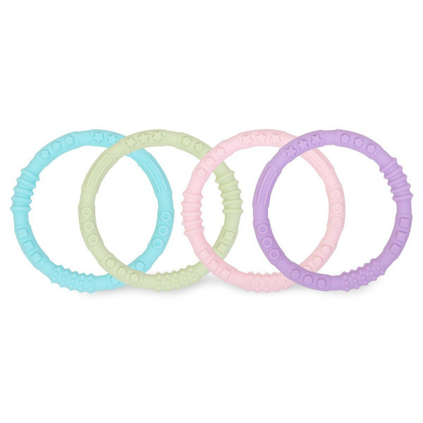 View larger image of Silicone Teething Rings - 4 pack