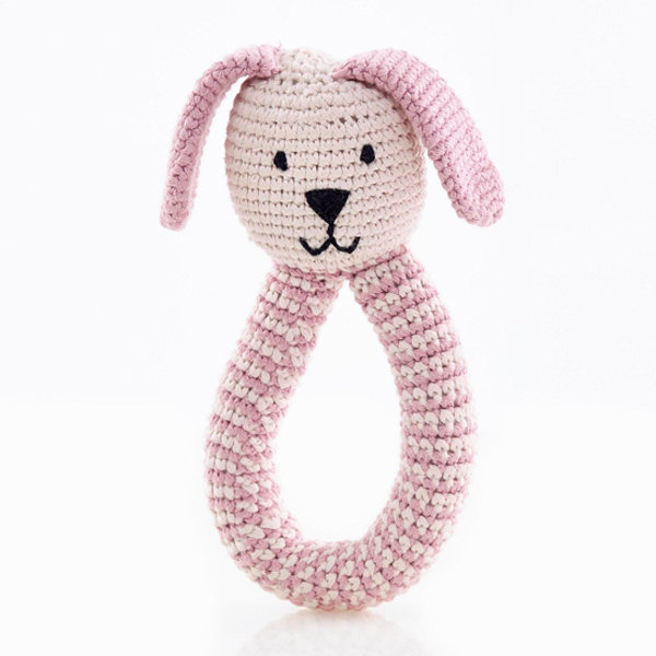 View larger image of Bunny Rattle Organic - Pink