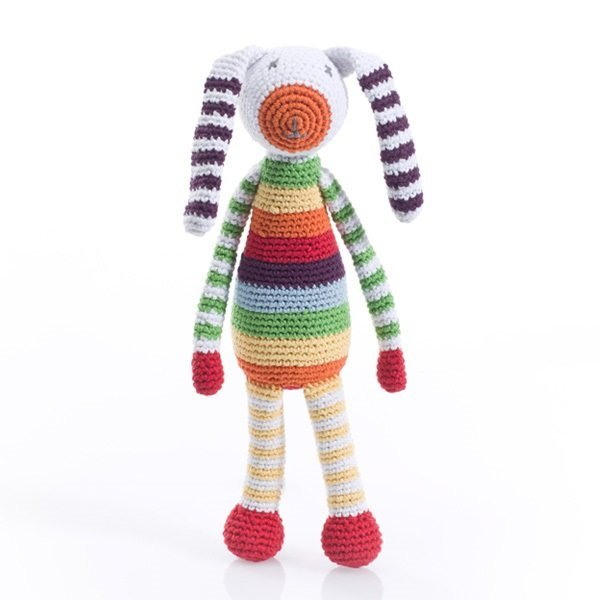 View larger image of Bunny Rattle - Rainbow