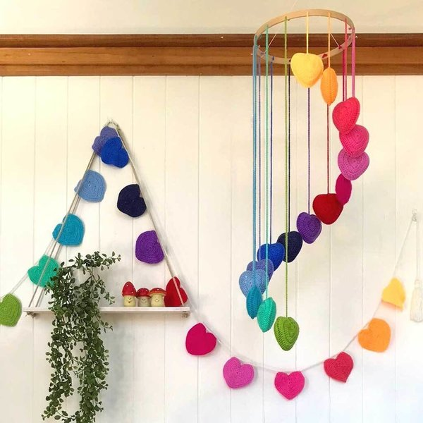 View larger image of Bunting Heart-Rainbow