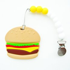 Burger Teether with Clip