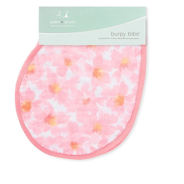 View larger image of Burpy Bibs - 2 Pack - Petal Blooms