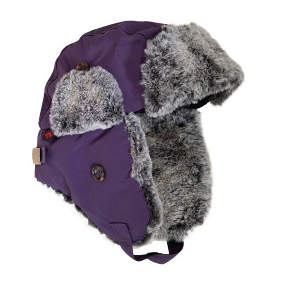 View larger image of Girls Trapper Hat - Purple (small)