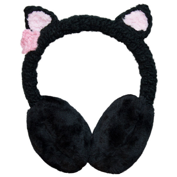 View larger image of Cat Ear Muffs - Black