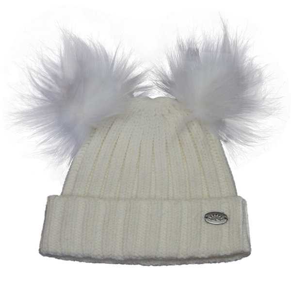 View larger image of Double Pom Hat - Creme