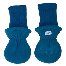 Fleece Rib Mitts - Blue