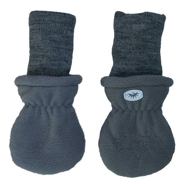 View larger image of Fleece Rib Mitts - Graphite