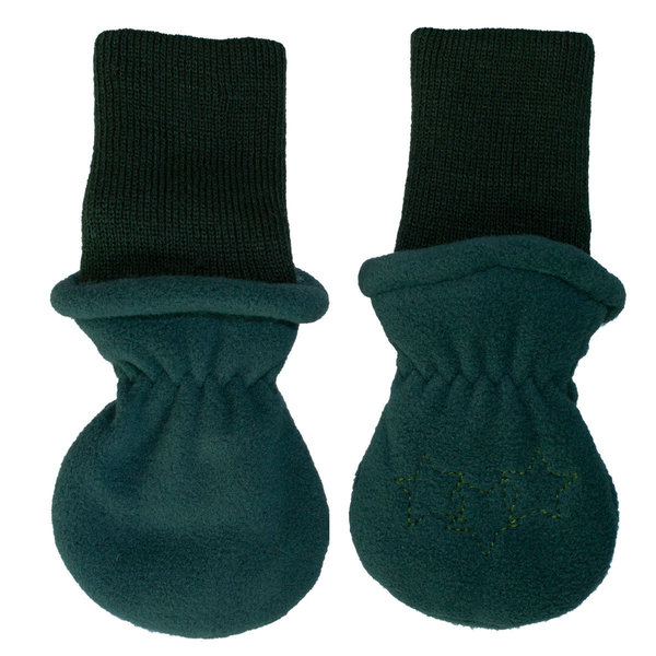 View larger image of Fleece Rib Mitts - Green