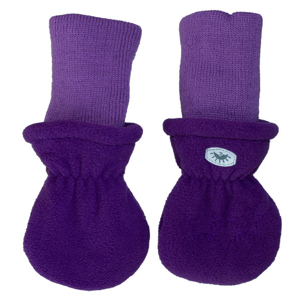 View larger image of Fleece Rib Mitts - Purple