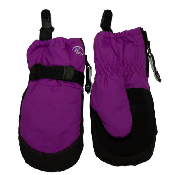 View larger image of Zipper Mittens with Clips