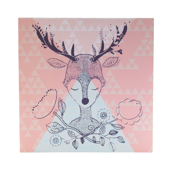 """View larger image of Canvas Art-Deer Head 15""""x15"""""""