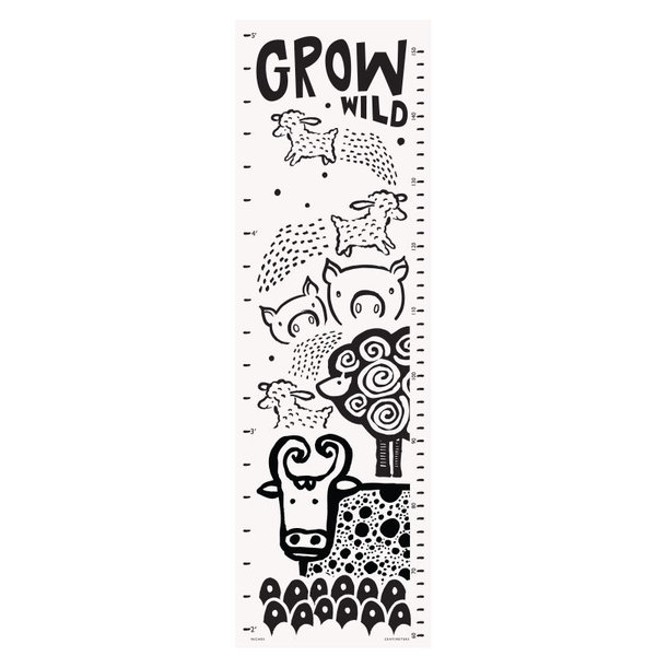 View larger image of Canvas Growth Chart - Farm