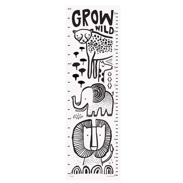 View larger image of Canvas Growth Chart - Safari