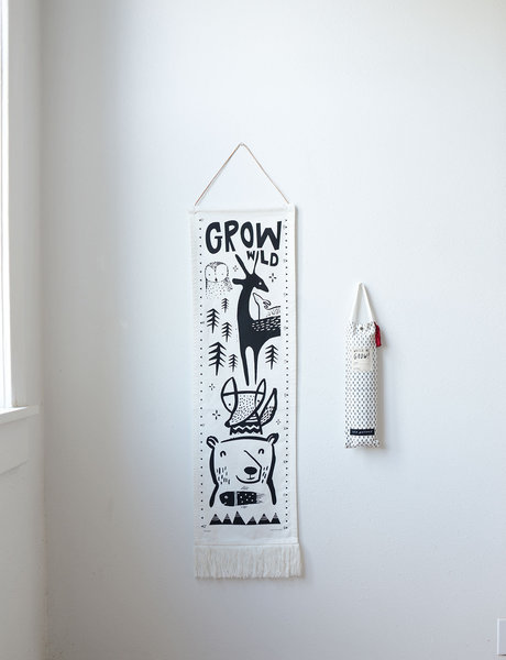 View larger image of Canvas Growth Chart - Woodland