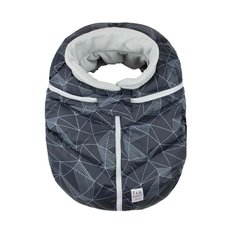 Car Seat Cocoon - Black Geo