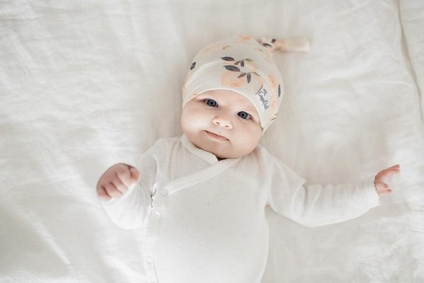 View larger image of Copper Pearl Newborn Top Knot Hat - Caroline