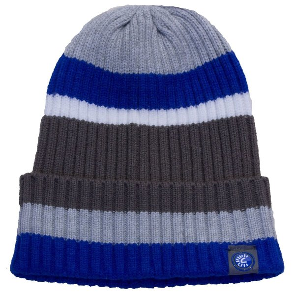 View larger image of Cashmere Beanie Blue/Grey 2-5y