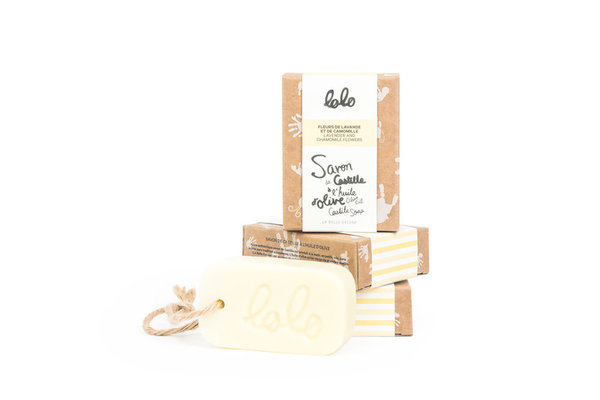 View larger image of Olive Oil Castile Soap - Lavender & Chamomile Flowers