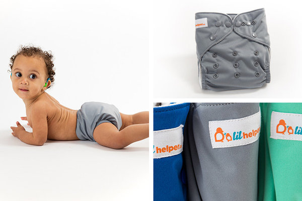 View larger image of Charcoal Cloth Diaper