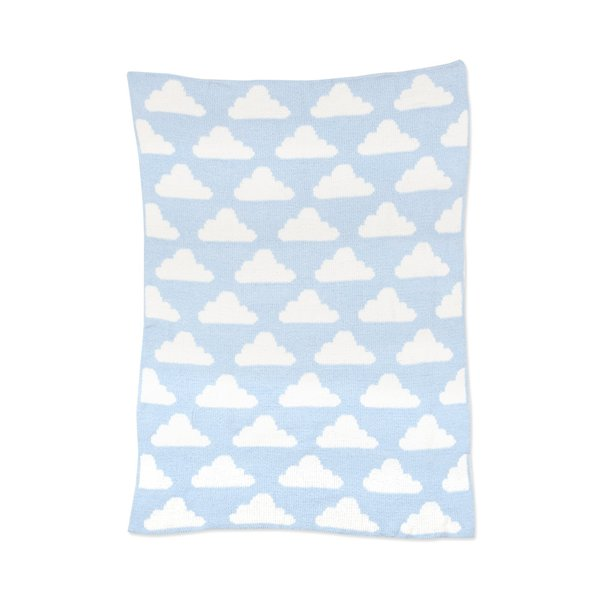 View larger image of Chenille Blanket - Blue Clouds