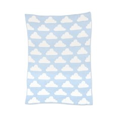 Chenille Blanket - Blue Clouds
