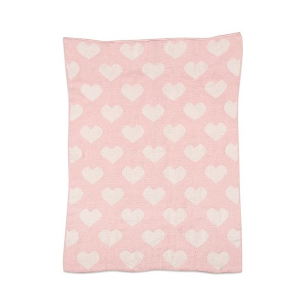 View larger image of Chenille Blanket - Pink Hearts