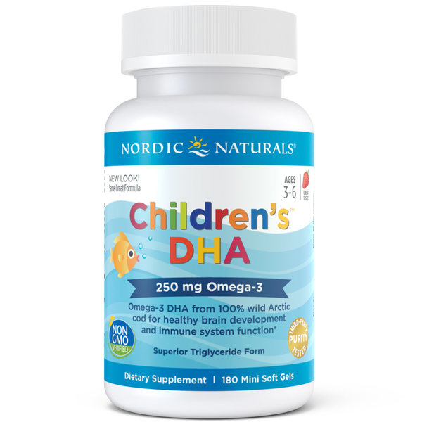 View larger image of Children's DHA Soft Gels - Strawberry - 180 Count