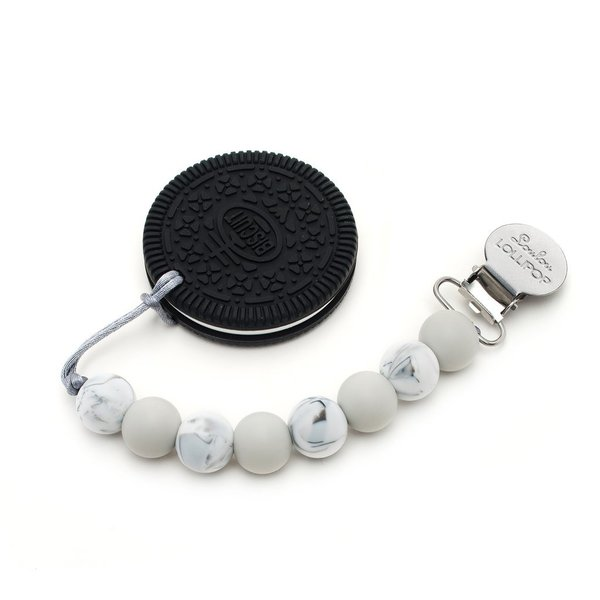 View larger image of Chocolate Cookie Teether - Marble Grey