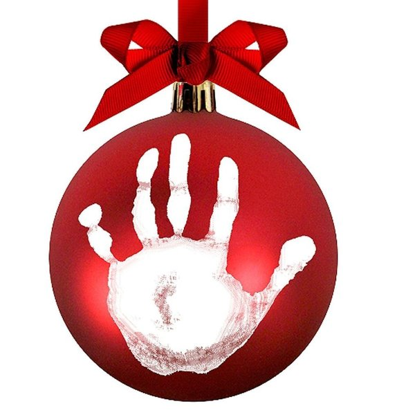 View larger image of Babyprints Christmas Ball Ornament