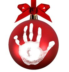 Babyprints Christmas Ball Ornament