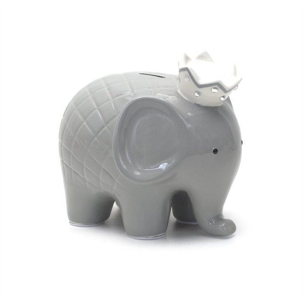 View larger image of Coco Elephant Bank - Grey