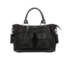 Convertible Diaper Bag - Black Herringbone