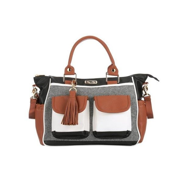 View larger image of Convertible Diaper Bag - Coffee & Cream