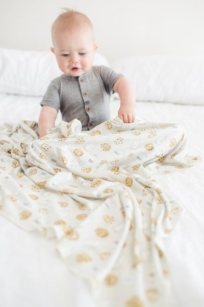 View larger image of Knit Swaddle Blanket - Chip