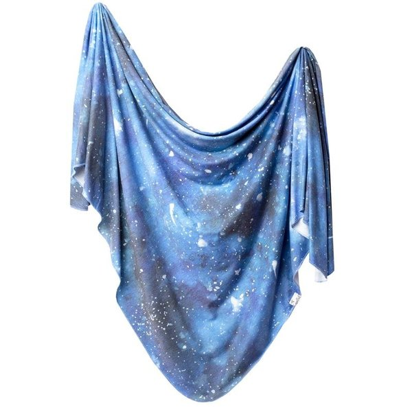 View larger image of Knit Swaddle Blanket - Galaxy