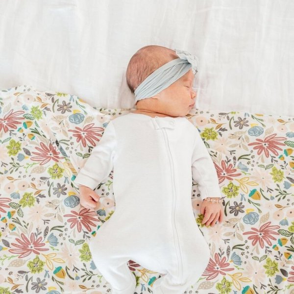 View larger image of Knit Swaddle Blanket - Olive