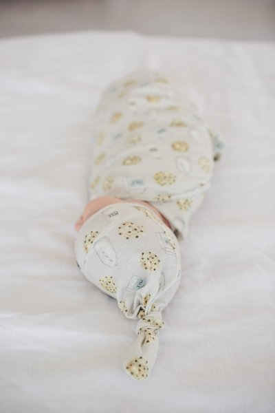 View larger image of Copper Pearl Newborn Top Knot Hat - Chip