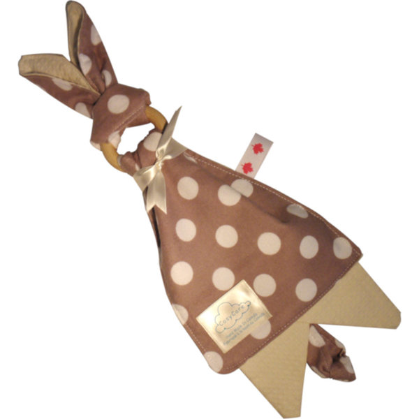View larger image of Bunny Teething Ring & Burp Cloth